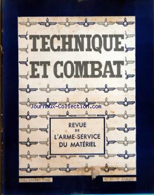 TECHNIQUE ET COMBAT no:39 01/12/1947