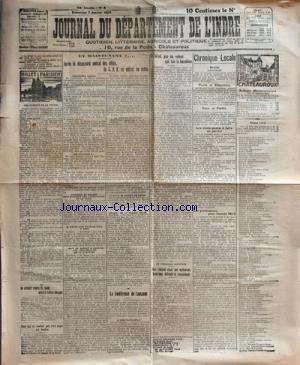 JOURNAL DU DEPARTEMENT DE L'INDRE no: 07/01/1923