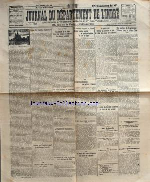 JOURNAL DU DEPARTEMENT DE L'INDRE no: 11/04/1923