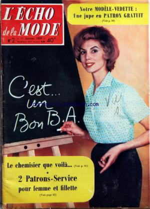 ECHO DE LA MODE (L') no:2 11/01/1959