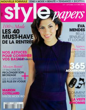 STYLE PAPERS no:7 01/09/2008