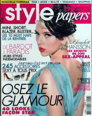 STYLE PAPERS no:6 01/07/2008