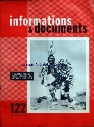 INFORMATIONS E DOCUMENTS no:122 15/04/1960