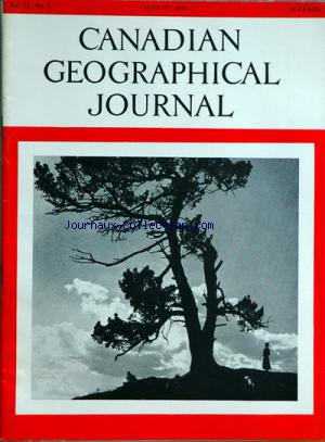 CANADIAN GEOGRAPHICAL JOURNAL no:2 01/08/1955