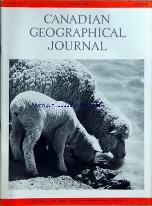 CANADIAN GEOGRAPHICAL JOURNAL no:3 01/03/1958
