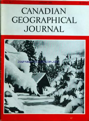 CANADIAN GEOGRAPHICAL JOURNAL no:1 01/01/1955
