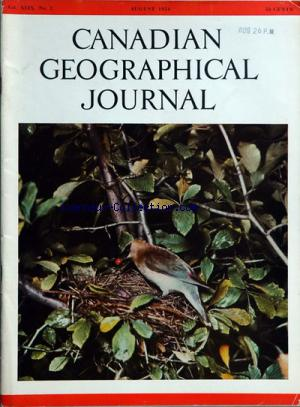 CANADIAN GEOGRAPHICAL JOURNAL no:2 01/08/1954