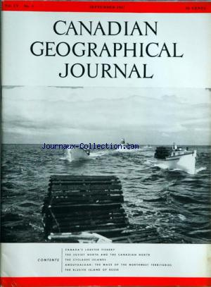 CANADIAN GEOGRAPHICAL JOURNAL no:3 01/09/1957