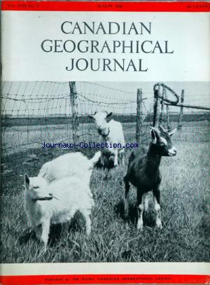 CANADIAN GEOGRAPHICAL JOURNAL no:2 01/08/1958