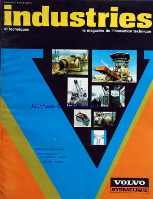 INDUSTRIES ET TECHNIQUES no:230 20/05/1973