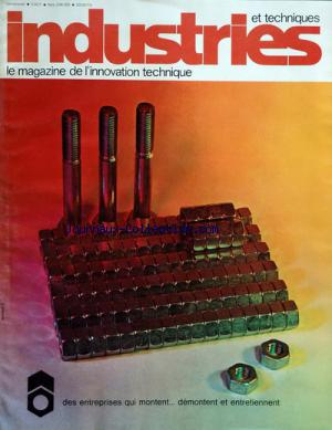 INDUSTRIES ET TECHNIQUES no:249 - 250 20/02/1974
