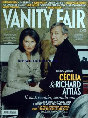 VANITY FAIR ITALIE no:15 16/04/2008