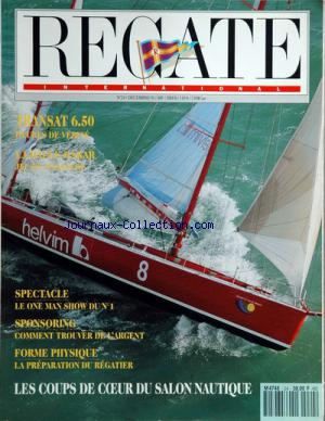 REGATE INTERNATIONAL no:24 01/12/1991