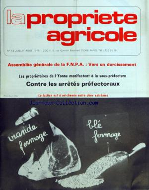 PROPRIETE AGRICOLE (LA) no:13 01/07/1975