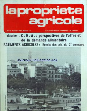 PROPRIETE AGRICOLE (LA) no:27 01/11/1976