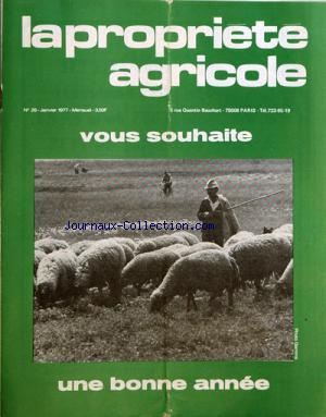 PROPRIETE AGRICOLE (LA) no:29 01/01/1977