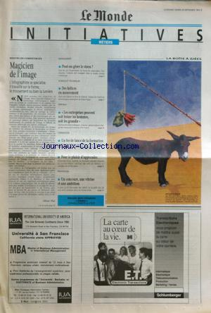 MONDE DES INITIATIVES (LE) no: 26/09/1995