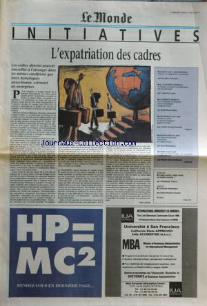 MONDE DES INITIATIVES (LE) no: 11/05/1995