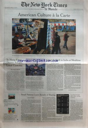NEW YORK TIMES - MONDE (LE) no:18744 30/04/2005