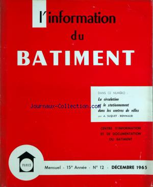 INFORMATION DU BATIMENT (L') no:12 31/12/1965