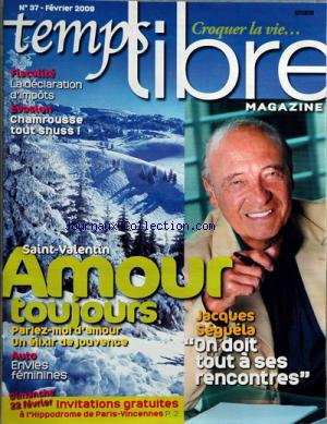TEMPS LIBRE MAGAZINE no:37 01/02/2009