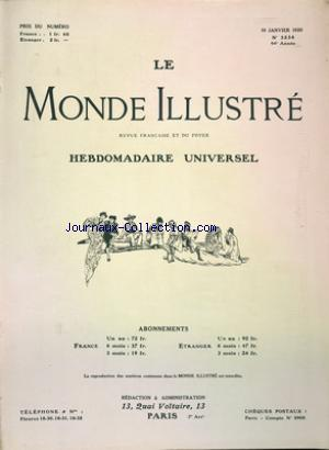 MONDE ILLUSTRE (LE) no:3238 10/01/1920