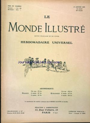 MONDE ILLUSTRE (LE) no:3239 17/01/1920