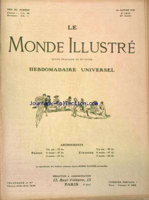 MONDE ILLUSTRE (LE) no:3240 24/01/1920