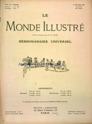 MONDE ILLUSTRE (LE) no:3243 14/02/1920