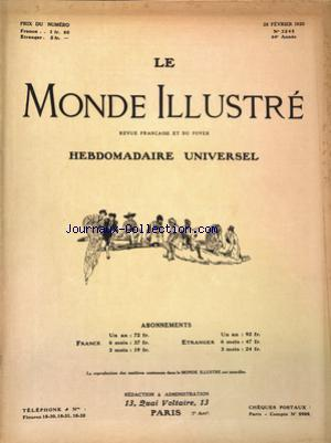 MONDE ILLUSTRE (LE) no:3245 28/02/1920