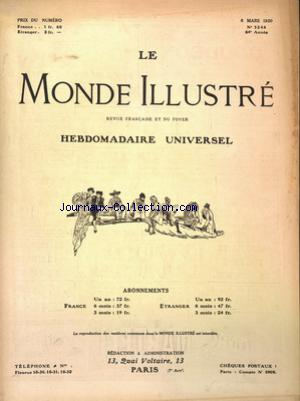 MONDE ILLUSTRE (LE) no:3246 06/03/1920