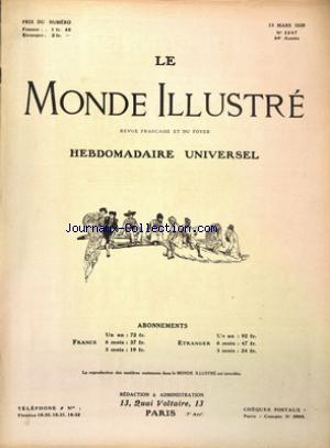 MONDE ILLUSTRE (LE) no:3247 13/03/1920