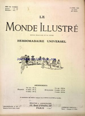 MONDE ILLUSTRE (LE) no:3250 03/04/1920