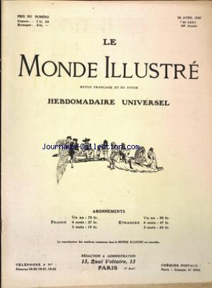 MONDE ILLUSTRE (LE) no:3251 10/04/1920