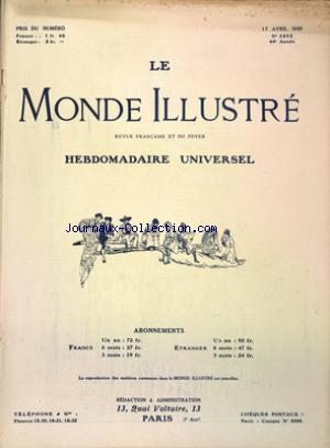 MONDE ILLUSTRE (LE) no:3252 17/04/1920