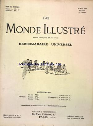 MONDE ILLUSTRE (LE) no:3258 29/05/1920