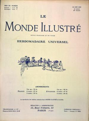 MONDE ILLUSTRE (LE) no:3260 12/06/1920