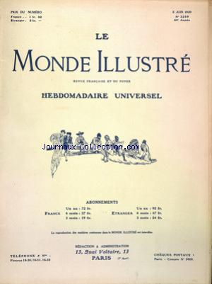 MONDE ILLUSTRE (LE) no:3259 05/06/1920