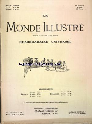 MONDE ILLUSTRE (LE) no:3262 26/06/1920