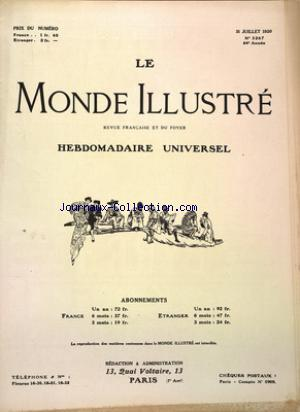 MONDE ILLUSTRE (LE) no:3267 31/07/1920