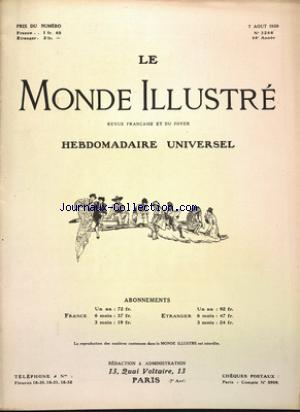 MONDE ILLUSTRE (LE) no:3268 07/08/1920
