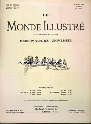 MONDE ILLUSTRE (LE) no:3270 21/08/1920