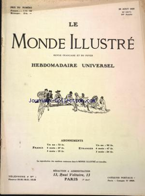 MONDE ILLUSTRE (LE) no:3271 28/08/1920