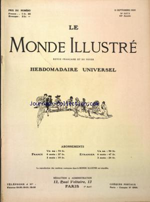 MONDE ILLUSTRE (LE) no:3273 11/09/1920
