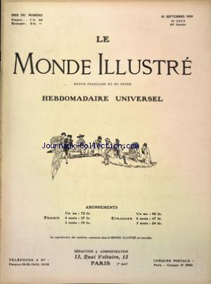MONDE ILLUSTRE (LE) no:3274 18/09/1920