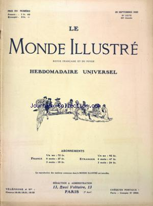 MONDE ILLUSTRE (LE) no:3275 25/09/1920
