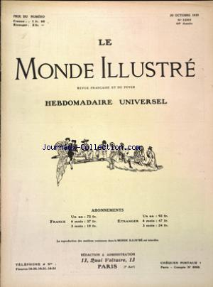 MONDE ILLUSTRE (LE) no:3280 30/10/1920
