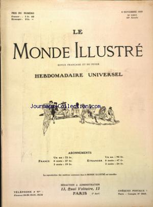 MONDE ILLUSTRE (LE) no:3281 06/11/1920