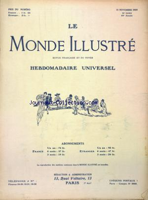 MONDE ILLUSTRE (LE) no:3282 13/11/1920