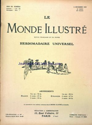 MONDE ILLUSTRE (LE) no:3286 11/12/1920
